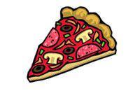 ein Stück Pizza